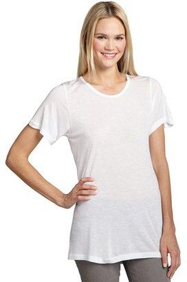 LnA white jersey open back 'Copacabana' top