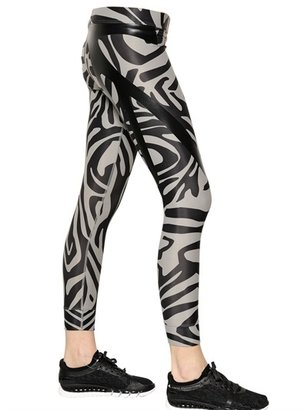 adidas by Stella McCartney Zebra Printed Techno Jersey Leggings