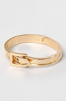 *Accessories Boutique The Western Buckle Bracelet in Gold