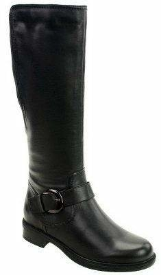 "David Tate Branson Knee High Leather Boots-18""Circumference"