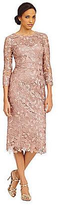 JS Collections Tea-Length Midi Lace Dress $288 thestylecure.com