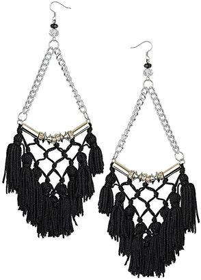 Topshop Large Tassel Drop Earrings
