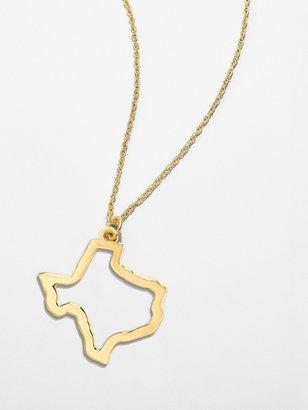 BaubleBar Maya Brenner 14k Solid Gold Texas State Pendant
