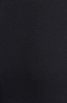 Nicole Miller Leather Trim Turtleneck Ponte Knit Dress