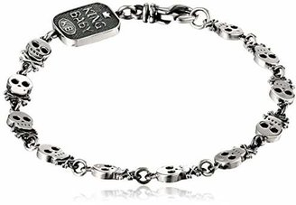 King Baby Skull and Crossbones-Motif Bracelet $204.94 thestylecure.com