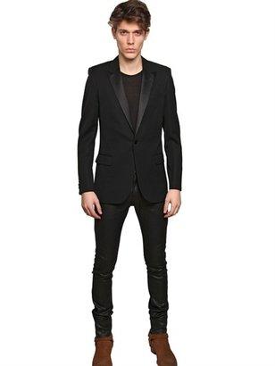 Saint Laurent 15,5cm Shiny Waxed Denim Jeans