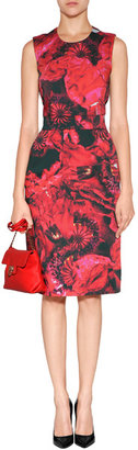 Preen by Thornton Bregazzi Printed Blaise Dress with Cutout Back in Poppy