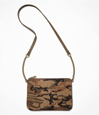 Express Studded Camouflage Cross Body Bag