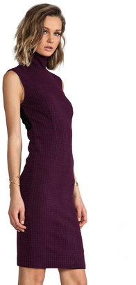 Tracy Reese Novelty Knit Lace Back Shift Dress