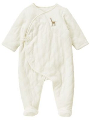 Janie and Jack Giraffe Quilted Velour One-Piece