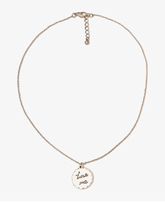 Forever 21 Love Me Coin Necklace