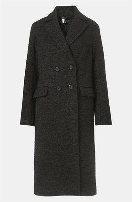 Topshop 'Prem Longline Mensy Crombie' Boyfriend Coat