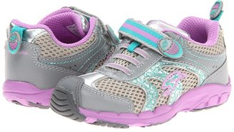 Stride Rite Made to Play Baby Sterling (Toddler) (Grey/Purple/Turquoise) - Footwear