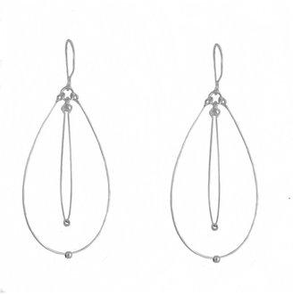 Tis tiK Silver Teardrop Earrings