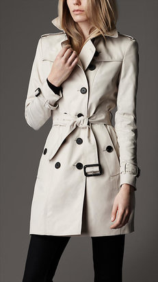 Burberry Mid-Length Technical Cotton Trench Coat
