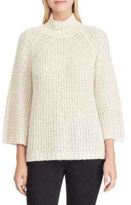 Chaps Mock Neck Pullover Sweater