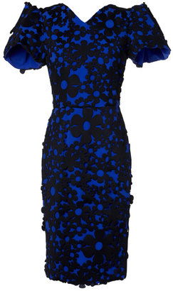 Roksanda Ilincic Preorder Neoprene Bluebell Sleeve Dress