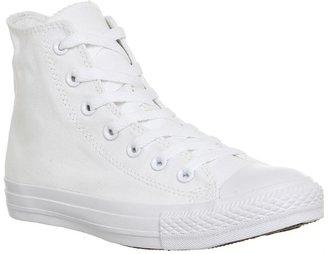 Converse Hi White Mono Canvas