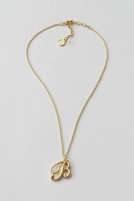 Lands' End Women's Gold Initial Necklace
