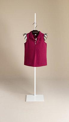 Burberry Check Sleeve Polo Shirt