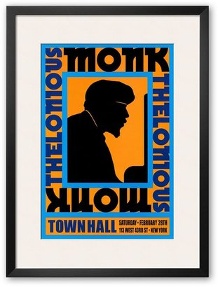"Art.com Thelonious Monk at Town Hall, New York City, 1959"" Framed Art Print by Dennis Loren"