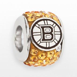 Swarovski Logoart LogoArt Boston Bruins Sterling Silver Crystal Logo Bead - Made with Crystals