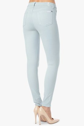 7 For All Mankind The Mid Rise Skinny In Ice Blue
