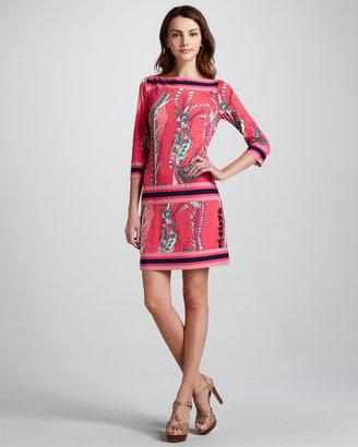 Ali Ro Printed Dropped-Waist Dress