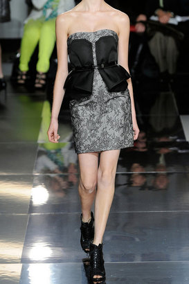 Jason Wu Lace-covered wool-blend felt peplum dress