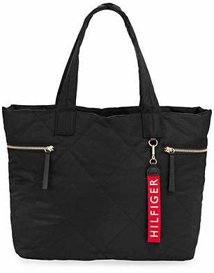 Tommy Hilfiger Quilted Logo Tote