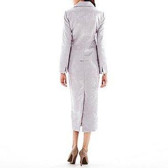 JCPenney 3-Button Jacquard Skirt Suit