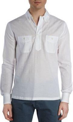 Barneys New York Pullover Button Shirt