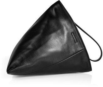 Jil Sander Leather Perin Clutch in Black
