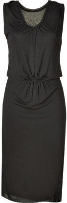 American Vintage Carbon Jersey High-Waist Dress