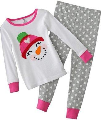 Carter's polka-dot snowman pajamas - toddler