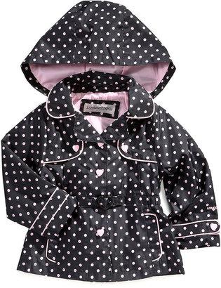London Fog Jacket, Little Girls Polka Dot Trench Coat
