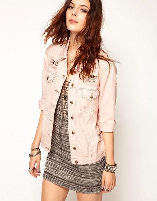 Somedays Lovin Corner Store Denim Jacket with Opaque Studs