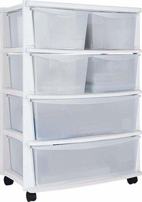 Argos Home 6 Drawer White Plastic Wide Tower Storage Unit