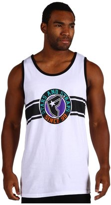 Famous Stars & Straps Hoops Tank Top (White/Black) - Apparel