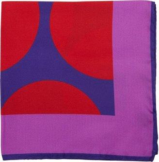 Duchamp Oversize Dot Print Pocket Square-Blue