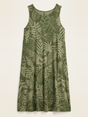Old Navy Sleeveless Printed Jersey Swing Dress for Women