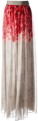 Giambattista Valli pleated abstract print maxi skirt