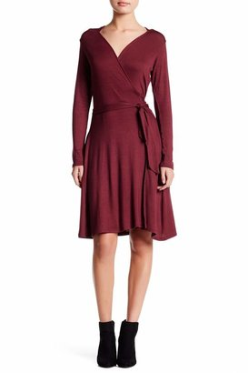 Loveappella Seamed Wrap Dress
