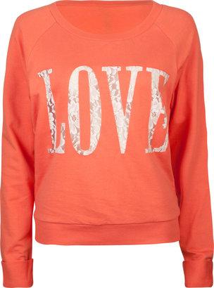 Full Tilt Love Lace Womens Sweatshirt