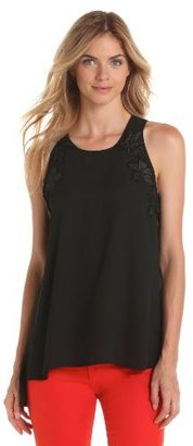 Vince Camuto Women's Embellished High Low Tank