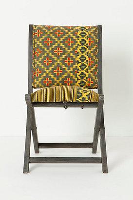 Anthropologie Overdyed Terai Folding Chair