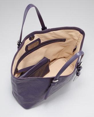 Longchamp LM Cuir Medium Tote Bag, Dark Purple