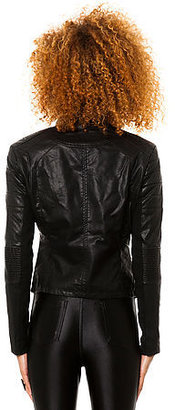 Blank NYC The Vegan Leather Jacket in Black