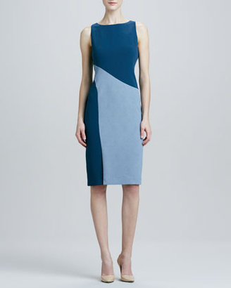 Rachel Roy Sleeveless Colorblock Dress, Blue/Gray