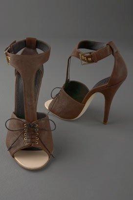 Givenchy Shoes Lace Up T-Strap Sandal